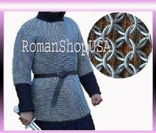 CHAINMAIL SHIRT RUST PROOF CHAIN MAIL ARMOR CHAINMAILE HAUBERGEON BUTTED a1