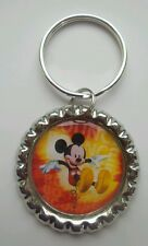 MICKEY MOUSE Bouncing, Bottle Cap on Key Ring