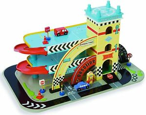 New Le Toy Van Mikes Wooden Auto Garage