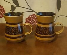 Vintage Mugs X 2 Cinque Ports Pottery The Monastery Rye    (pt12)