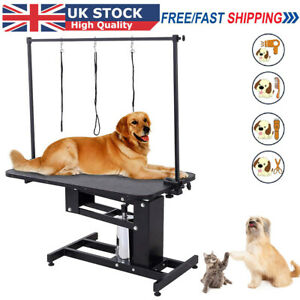 Extra Large Adjustable Hydraulic Pet Dog Grooming Table Heavy Duty Z Lift H Bar