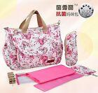 6PCS Cotton Baby Changing Diaper Nappy Mummy Bag Bottle Holder Handbag 4colors