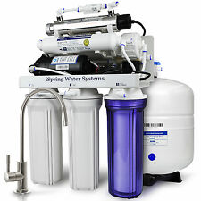 iSpring 6-Stage 100GPD RO+UV+Pump Reverse Osmosis Water Filter System RCC1UP