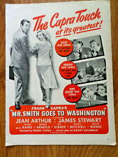 1939 Movie Ad Mr Smith Goes to Washington Jean Arthur James Stewart