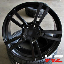 "22"" Satin Black Split 5 Spoke Wheels Fits Porsche Cayenne Q7 Touareg 2016 GTS"