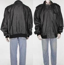 80s Vintage Members Only Cafe Racer Black Motorcycle Leather Jacket Coat Euc 3Xt