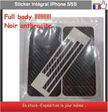 iPhone 5-5 S  intégral full body carbone Noir anthracite
