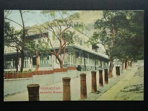 Gibraltar ASSEMBLY ROOMS - Old RP Postcard by V.B. Cumbo