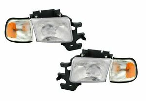 FITS DODGE FULL SIZE RAM VAN 1994-1997 B1500 HEADLIGHTS HEAD LIGHTS SIGNAL LAMPS