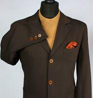 Summer Armani Jeans Jacket Blazer Brown Designer 38R EXCEPTIONAL ITEM 2314