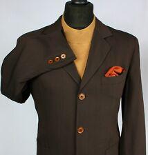 Summer Armani Jeans Jacket Blazer Brown Designer 38R EXCEPTIONAL ITEM 2323