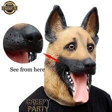 FREE SHIPPING new CreepyParty Dog Head Halloween Party Latex Animal Mask costume