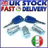 FIAT PANDA 2 MK2 PUNTO 2 MK2 Door Lock Set Barrel & Keys MADE IN ITALY x 3 pcs
