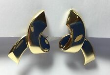 Tiffany 18k Yellow Gold Vintage Paloma Picasso Loop Earrings With Clip Backs