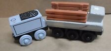 2 Thomas the Train Wooden Military Car Spencer's Magnetic Vintage Rare HTF