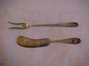 RARE Sterling Butter Knife & Lemon Fork Panama Pacfic Exposition PPIE Souvenir