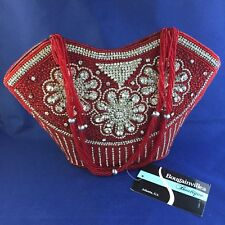 Bougainvillea Boutique ~ Red Bead and Crystal Purse ~ NWT! ~ Free Shipping!