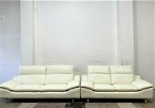 Thornhill White Genuine Leather 3+2 Seater Sofas  RRP £3556