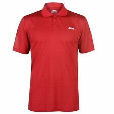 Slazenger Hombres Micro Stripe Golf Polo Shirt Mens Manga Corta