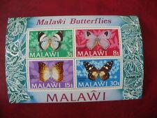 Malawi blok 30 butterfly-schmetterlinge 1973 postfris-MNH 22 euro mi