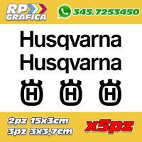 KIT 5 ADESIVI HUSQVARNA sticker SCRITTA LOGO MOTO AUTO