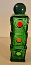 Avon Stop N Go Wild Country Aftershave Stop Light Shaped Empty Green Bottle