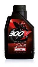 10 LITRI OLIO MOTORE MOTUL 300V 300V 10W40 10/40 100% SINTETICO MOTO