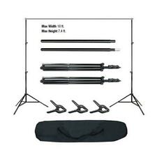 Photo Video Studio Background Stand Backdrop Support System w/ 3 Backdrop Clamps