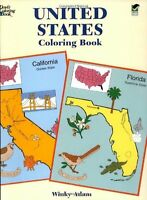 United States Coloring Book (Dover History Coloring Book) by Winky Adam