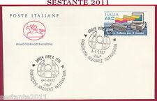 ITALIA FDC CAVALLINO CONGRESSO INTERCULTURA IVREA TO OLIVETTI 1987  Z785