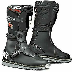 SIDI DISCOVERY MICROFIBRE MOTORCYCLE MOTORBIKE BOOTS BLACK CE APPROVED