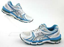 Asics Gel-Kayano 18 Running Shoes White / Island Blue / Black US 6.5