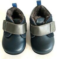 See Kai Run baby boot Sanjay II US 4 navy leather lined