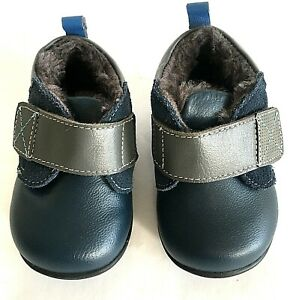 See Kai Run baby boot Sanjay II US 4 navy leather lined