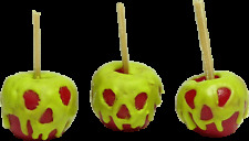 """for DOLLHOUSE Miniature /""""Lola/"""" Caramel Apples w//Nuts 3 1:12 Scale Miniatures"""