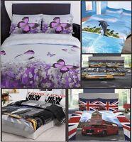3D Design Duvet Set Quilt Cover Bedding Set with Pillowcases Single Double King