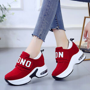 Damen Plateau Sneaker High Heels Wedges Trendy Schuhe Halbschuhe Turnschuhe