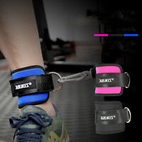 Heavy Duty Foot Ankle Strap Strength Training D-ring Cable Machine Gym Fitness