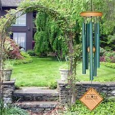 "Woodstock CHIMES OF MERCURY 14"" VERDIGRIS WIND CHIMES, 5 Tubes approx 6.5""   #dm"