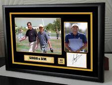 "Sergio Garcia & Seve Ballesteros Golf Framed Canvas Tribute Signed ""Great Gift"""