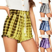 Damen Shorts Sommer Bermuda Freizeitshose Sommerhose Strand Kurze Hose Hotpants