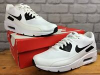NIKE MENS UK 9 EU 44 AIR MAX 90 ULTRA 2.0 ESSENTIAL WHITE BLACK TRAINERS T