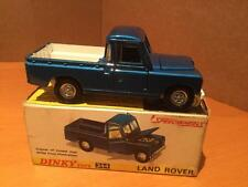 Dinky Toys 344 Land Rover Pick Up metallic blue car VNMIB
