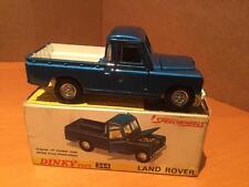 Dinky Toys 344 Land Rover Pick Up metallic blue car VNMIB