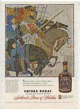 Two Chivas Regal Scotch Whisky Ads Vintage 1950s From Sports Illustrated