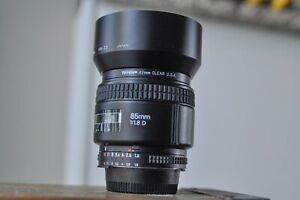 Nikon AF 85mm F1.8D  lense FX Nikon D70,80,90,200,300,600,700,750,800,810 ,7000