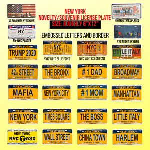 NEW YORK CITY Novelty Souvenir License Plate, BROOKLYN, TRUMP, USA 12 in* 6 in