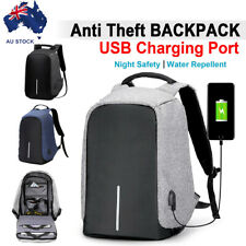 Anti-Theft Laptop USB Port Travel Backpack Travel Bag Water Repellent School AU