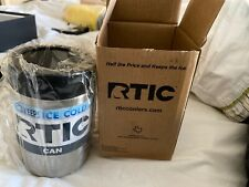 NEW RTIC 12 oz Can/Bottle Koozie - Stainless Steel.