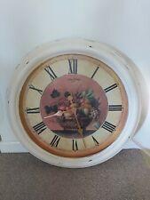 Very Large Cream Shabby Chic Indoor Clock. 62cm diameter.